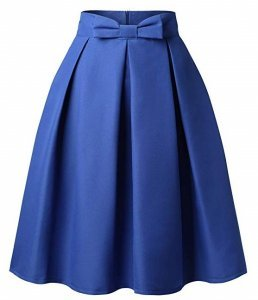 High waisted front Pleated Midi Skirt