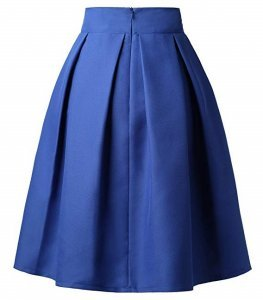 Pleated Midi Skirt | high waisted back